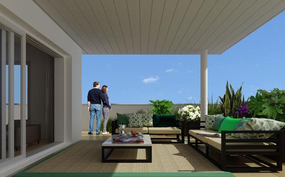 terrasse logements dernier étage