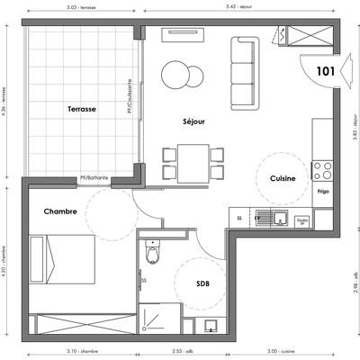 Exemple Plan T2 Hareak